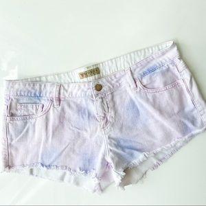 Guess Tie Dye White Denim Shorts